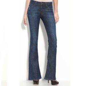 Joes Visionaire Flare Mid Rise Medium Wash Jeans